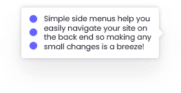 Easy to use Menus